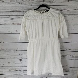 Triple Tie back embroidered dress